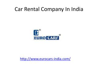 Car Rental Company In India - Euro Cars