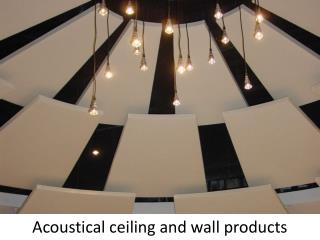 Acoustical ceiling and wall products