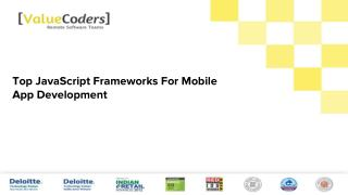 9 Top JavaScript Frameworks For Mobile App Development