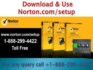 1-(888)-299-4422 Norton.com/setup for Technical Support