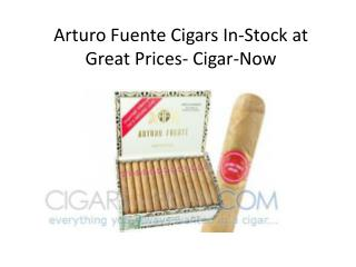 Arturo Fuente Cigars In-Stock at Great Prices- Cigar-Now