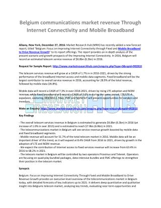 Mobile Broadband to Drive Revenue Growth Market Report