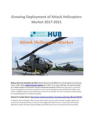 Growing Deployment of Attack Helicopters Market 2017-2021