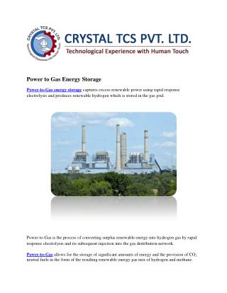Power to Gas Energy Storage