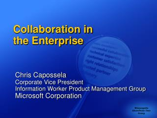 Collaboration in  the Enterprise