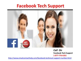 Dial 1-877-776-6261 Facebook Tech Support  : Quick yet Reliable