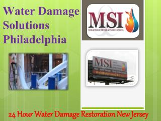 Water Damage Solutions Philadelphia