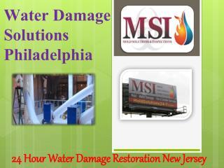 Water Damage Solutions Philadelphia
