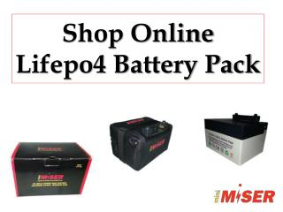 Shop Online Lifepo4 Battery Pack