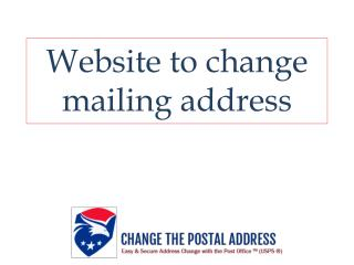 Website to change mailing address