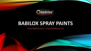 Babilox Spray Paints Private Label
