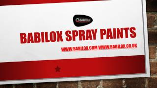 Babilox Spray Paints