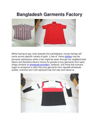 Bangladesh Garments Factory