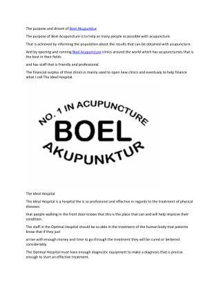 Boel Akupunktur