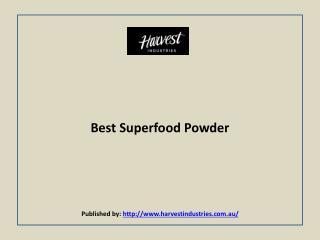 Harvest Industries-Best Superfood Powder