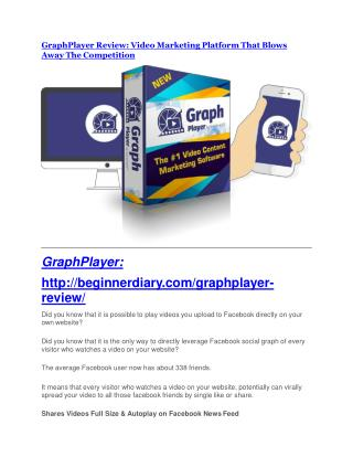 GraphPlayer review and (Free) $21,400 Bonus & Discount
