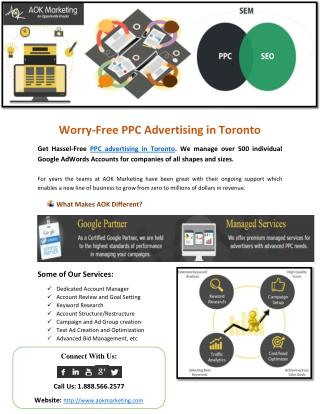 Worry-Free PPC Advertising in Toronto