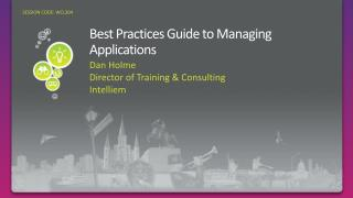 Best Practices Guide to Managing Applications