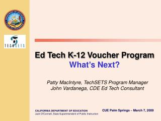 Ed Tech K-12 Voucher Program What s Next