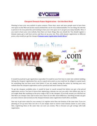 Cheapest Domain Name Registration - Get the Best Deal