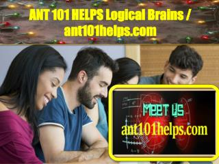 ANT 101 HELPS Logical Brains / ant101helps.com