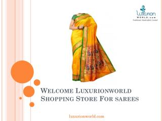 Buy Silk Saree Online in India - Luxurionworld