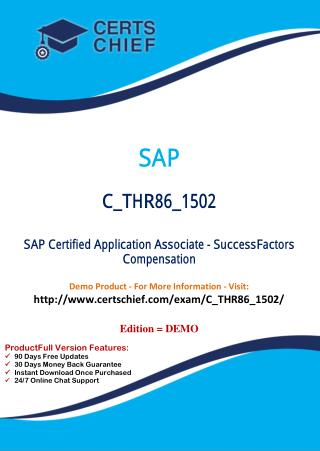 C_THR86_1502 Certification Exams Dumps