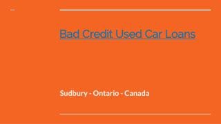 Bad Credit Used Car Loans in Sudbury