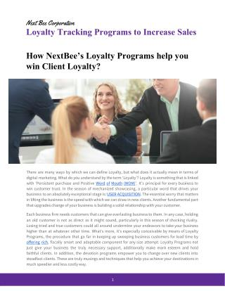 E-Book on Loyalty Tracking Programs to Increase Sales