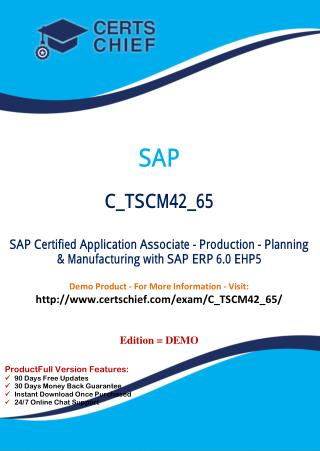 C_TSCM42_65 IT Exam Dumps