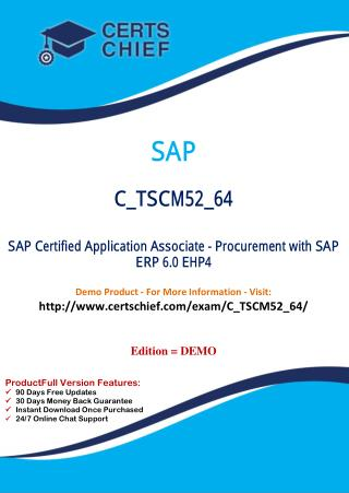 C_TSCM52_64 IT Exam Dumps