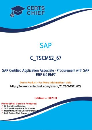 C_TSCM52_67 IT Exam Dumps