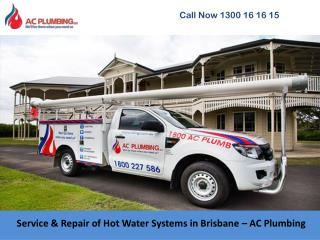 Service & Repair of Hot Water Systems in Brisbane – AC Plumbing