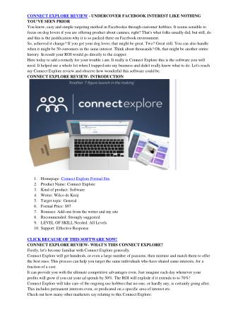 Connect Explore Review - Uncover Facebook interest like never before by Wilco de Kreij