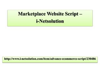 Marketplace Website Script – i-Netsolution