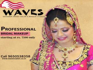 Get the best bridal makeup look on wedding day at Rs. 7500 only.