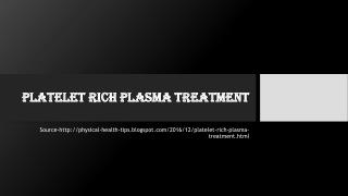Platelet Rich Plasma Treatment