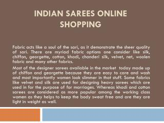 Indian Sarees Online Shopping