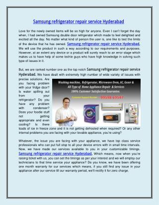 Samsung refrigerator repair service Hyderabad