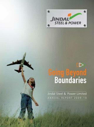 Going Beyond Boundaries   Jindal Steel & Power Limited