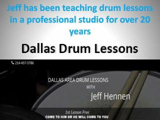 Jeff has been teaching drum lessons in a professional studio for over 20 years