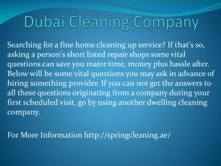 dubai cleaning company