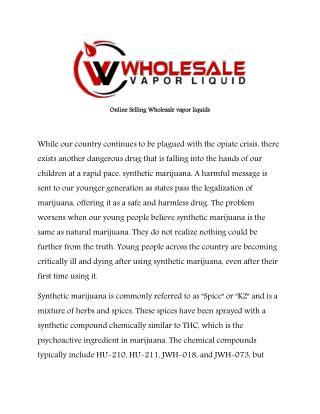 Wholesale vapor liquid