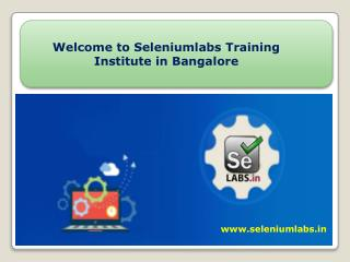 Welcome to Best Selenium Online Training  Institute in Bangalore