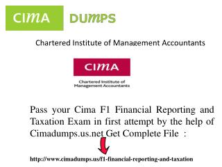 Get Easily Chartered Institute of Management Accountants-cima-f1 - exam