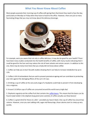 What You Never Knew About Coffee.pdf