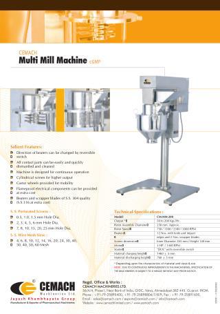 Cemach Multi Mill Machine cGMP