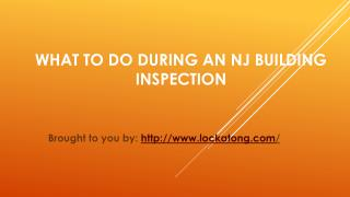 What To Do During An NJ Building Inspection
