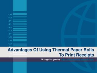 Advantages Of Using Thermal Paper Rolls To Print Receipts
