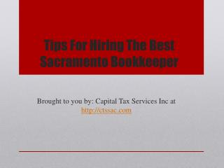 Tips For Hiring The Best Sacramento Bookkeeper